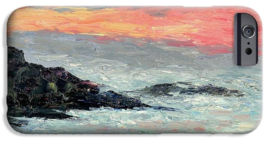 Seascape IPhone 6 Case featuring the painting California Coast by Gail Kirtz