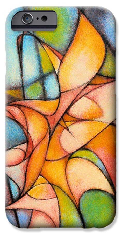Contemporary IPhone 6 Case featuring the painting Calla Lillies by Kevin Lawrence Leveque