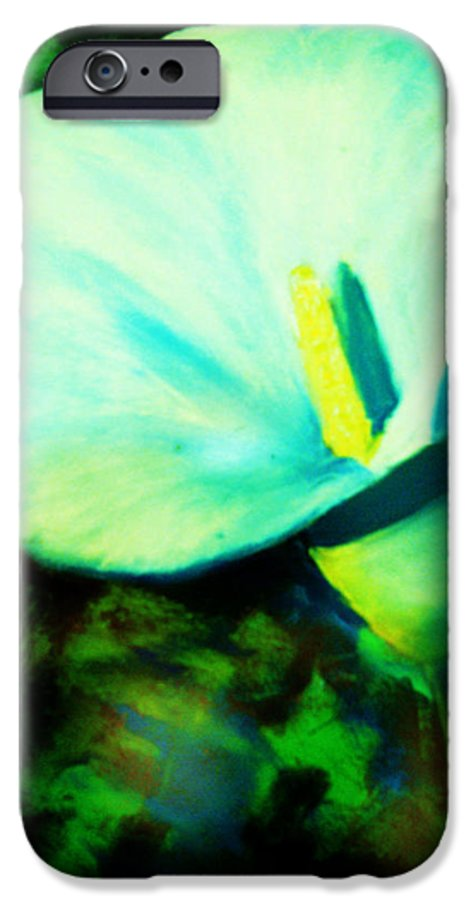 White Calla Lily IPhone 6 Case featuring the painting Calla Lily by Melinda Etzold