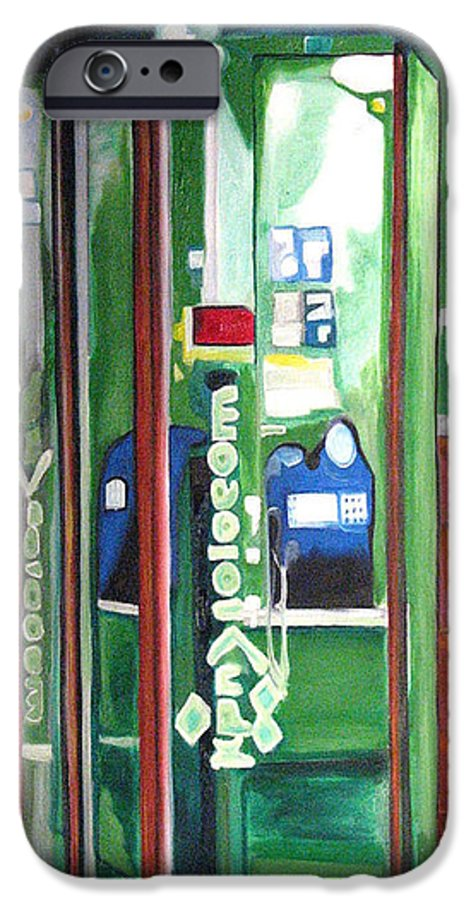 Abstract IPhone 6 Case featuring the painting Calling Dam by Patricia Arroyo