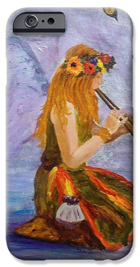IPhone 6 Case featuring the painting Calling The Wolf Spirit by Tami Booher