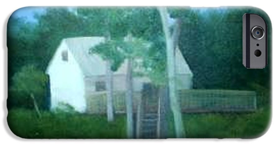 Trees IPhone 6 Case featuring the painting Camp by Sheila Mashaw