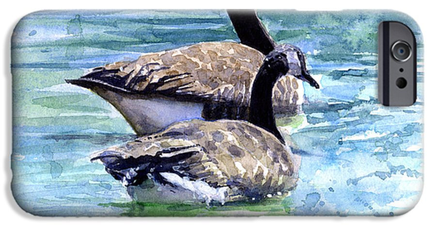 Canada IPhone 6 Case featuring the painting Canada Geese by John D Benson