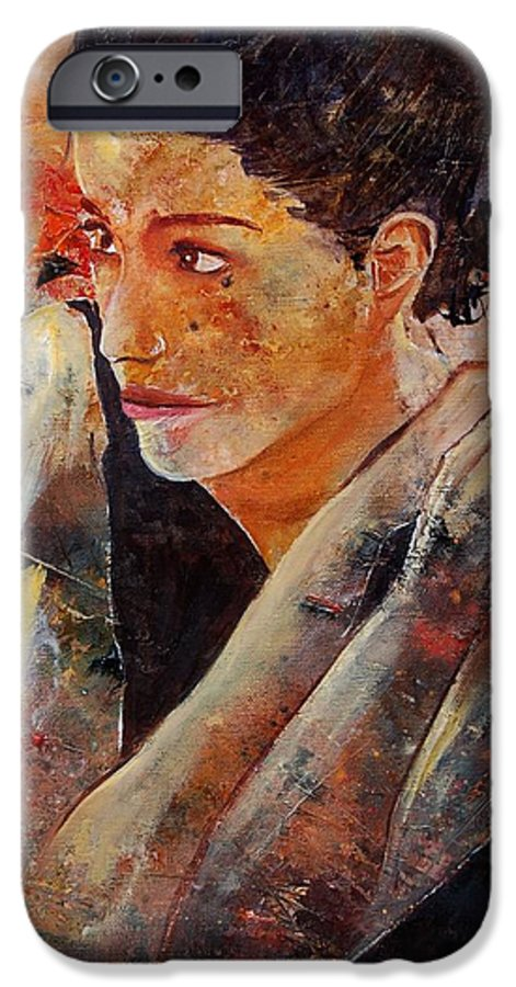 Figurative IPhone 6 Case featuring the painting Candid Eyes by Pol Ledent
