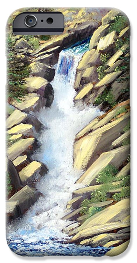 Landscape IPhone 6 Case featuring the painting Canyon Falls by Frank Wilson