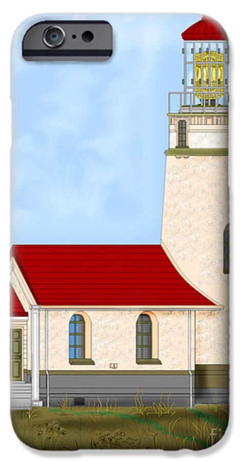 Lighthouse IPhone 6 Case featuring the painting Cape Blanco Oregon by Anne Norskog