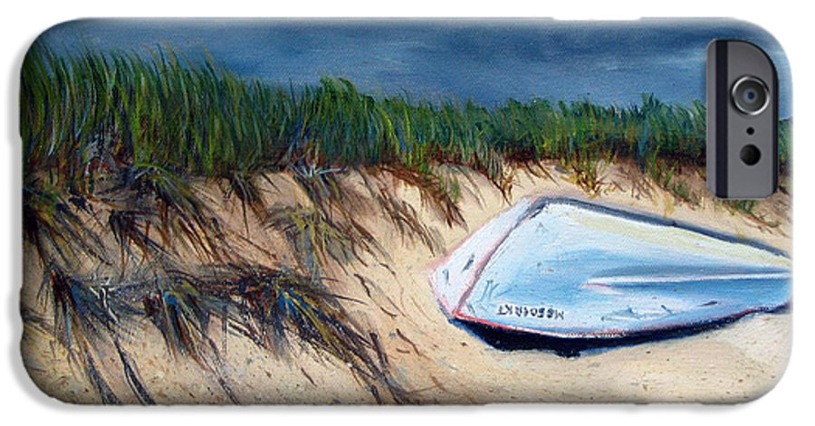 Boat IPhone 6 Case featuring the painting Cape Cod Boat by Paul Walsh