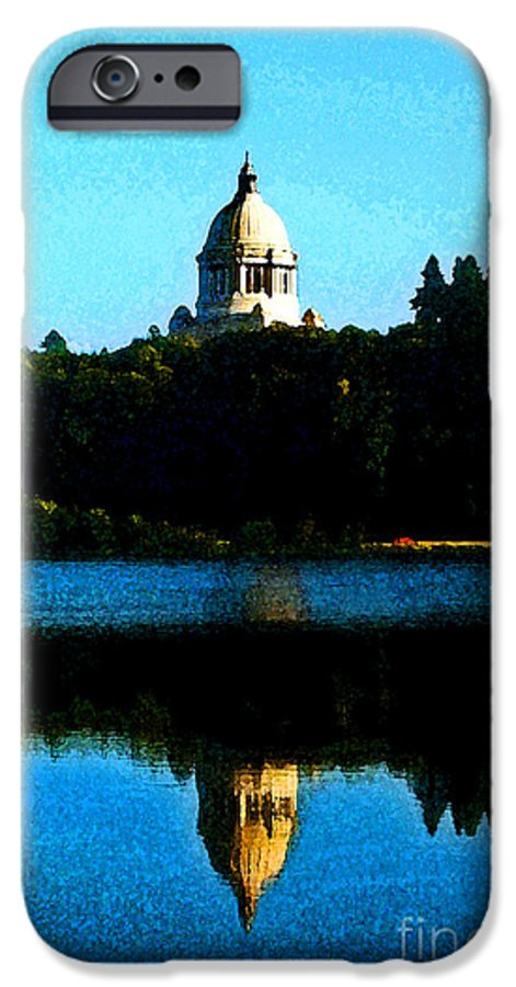 Lake IPhone 6 Case featuring the photograph Capital Lake by Larry Keahey