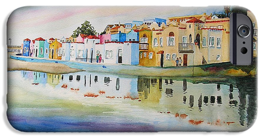 Capitola IPhone 6 Case featuring the painting Capitola by Karen Stark