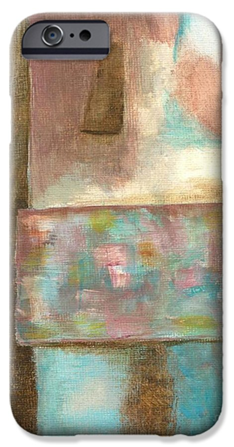 Abstract IPhone 6 Case featuring the painting Captive Dreamer by Itaya Lightbourne