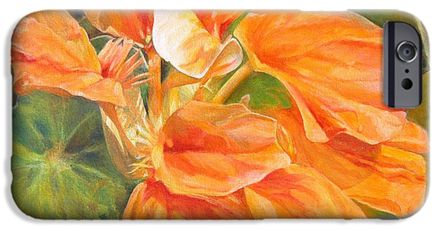 Floral Painting IPhone 6 Case featuring the painting Capucine by Muriel Dolemieux
