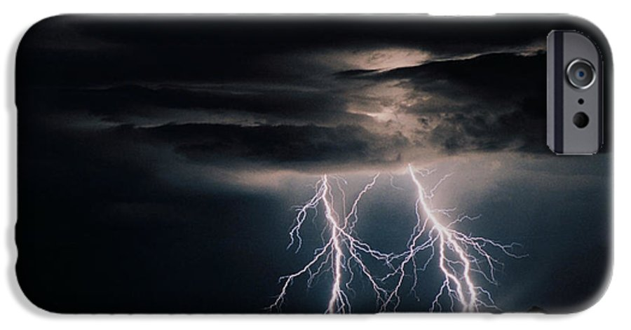 Arizona IPhone 6 Case featuring the photograph Carefree Lightning by Cathy Franklin