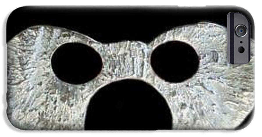 A Wearable Mardi Gras Carnival Or Costume Mask With A Leather Covered Holding Stick IPhone 6 Case featuring the photograph Carnival Series by Robert aka Bobby Ray Howle