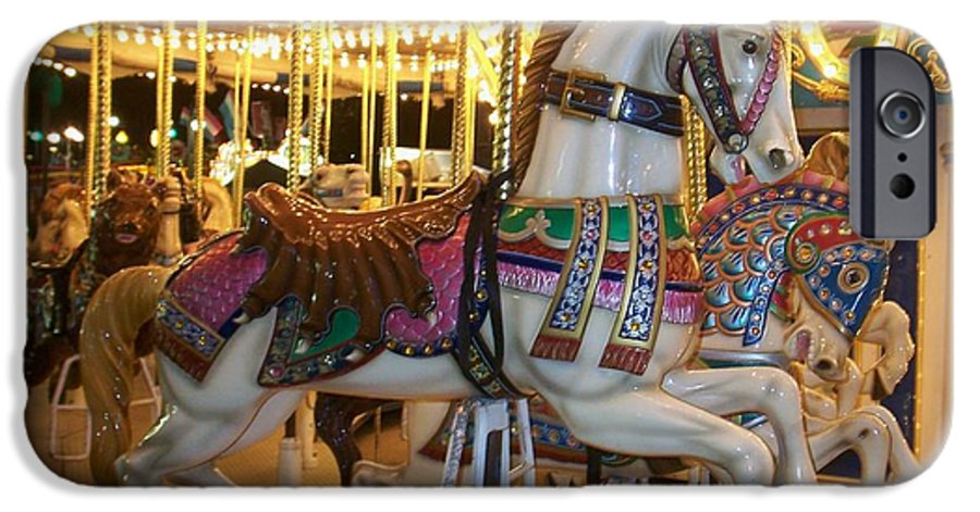 Carosel Horse IPhone 6 Case featuring the photograph Carosel Horse by Anita Burgermeister