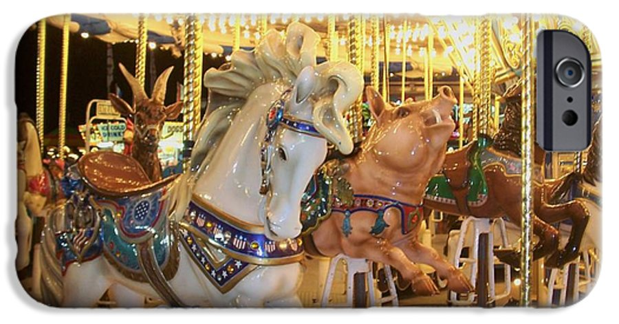 Carosel Horse IPhone 6 Case featuring the photograph Carousel Horse 2 by Anita Burgermeister