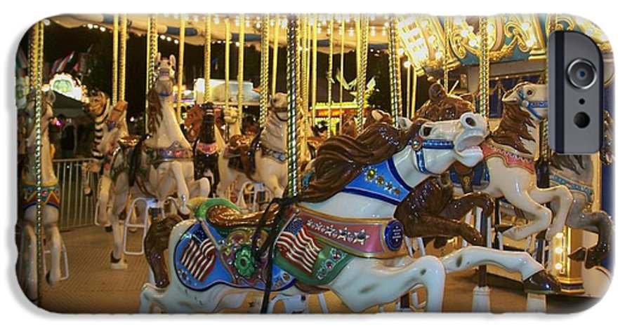 Carousel Horse IPhone 6 Case featuring the photograph Carousel Horse 3 by Anita Burgermeister