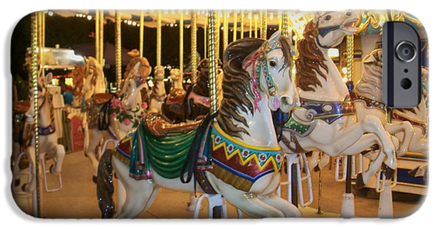 Carousel Horse IPhone 6 Case featuring the photograph Carousel Horse 4 by Anita Burgermeister