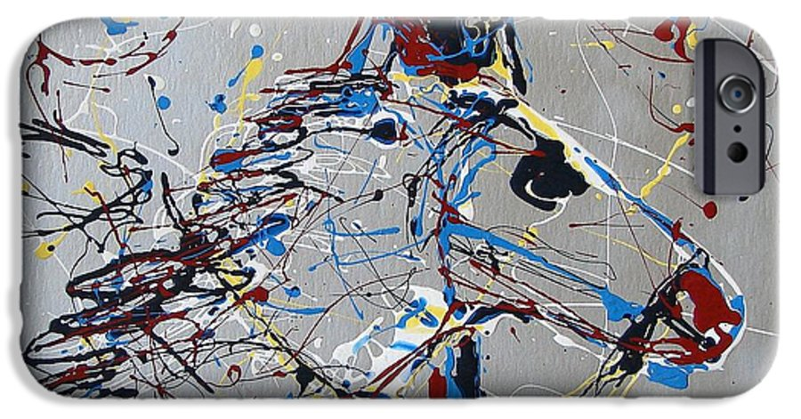 Carousel Horse IPhone 6 Case featuring the mixed media Carousel Horse by J R Seymour