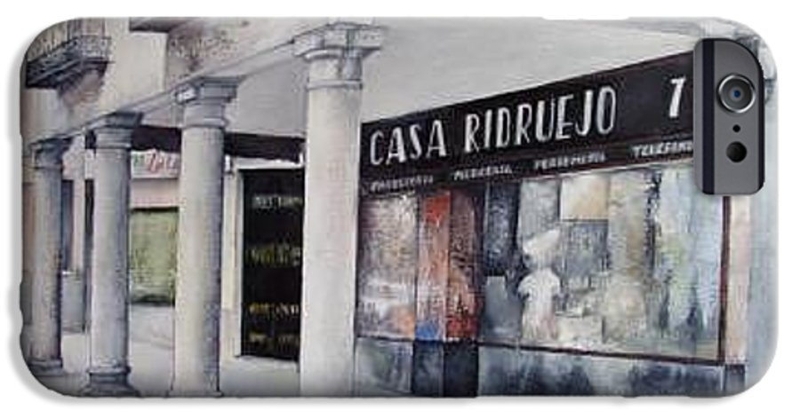 Casa IPhone 6 Case featuring the painting Casa Ridruejo Arevalo by Tomas Castano