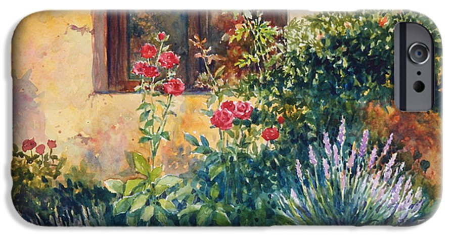 Roses IPhone 6 Case featuring the painting Casale Grande Rose Garden by Ann Cockerill