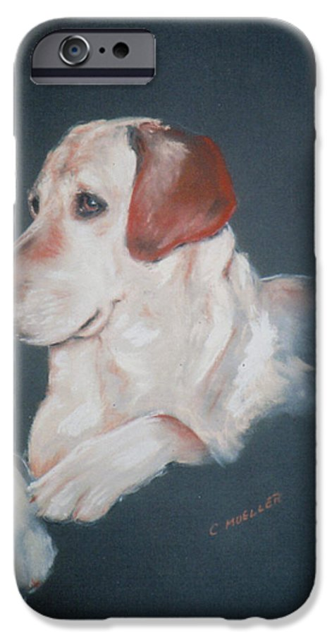 Dog IPhone 6 Case featuring the painting Casey by Carol Mueller