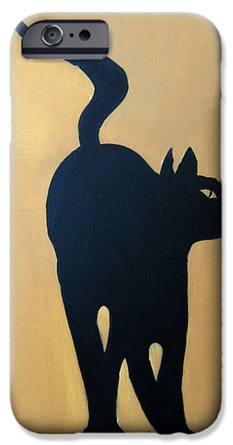 Cat IPhone 6 Case featuring the painting Cat Dance..... Optical Illusion by Patrick Trotter