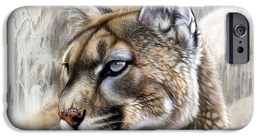 Acrylic IPhone 6 Case featuring the painting Catamount by Sandi Baker