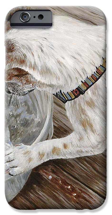 Pet Portrait IPhone 6 Case featuring the painting Catch Of The Day by Danielle Perry