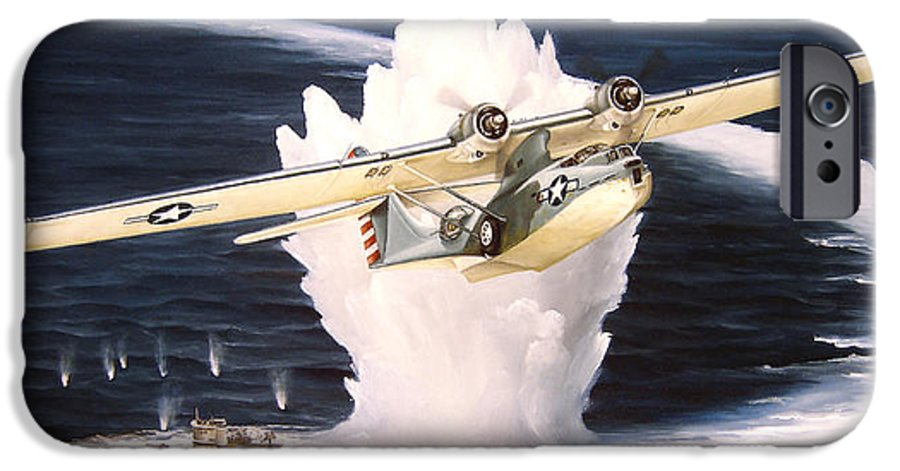 Military IPhone 6 Case featuring the painting Caught On The Surface by Marc Stewart