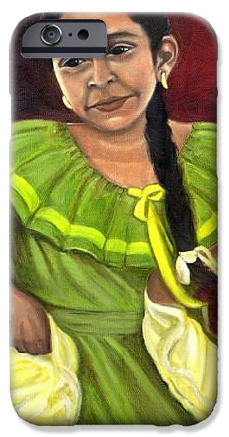 IPhone 6 Case featuring the painting Cecelia by Toni Berry