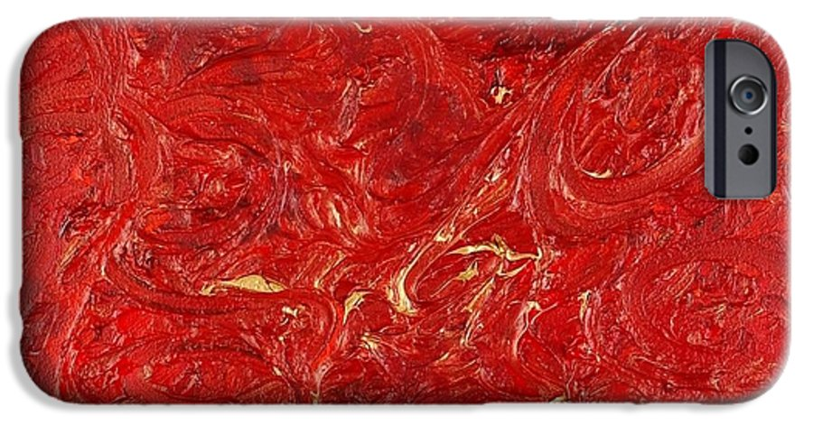 Red IPhone 6 Case featuring the painting Celebration by Nadine Rippelmeyer