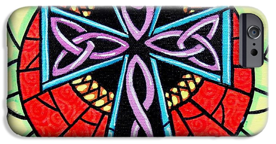 Celtic IPhone 6 Case featuring the painting Celtic Cross by Jim Harris