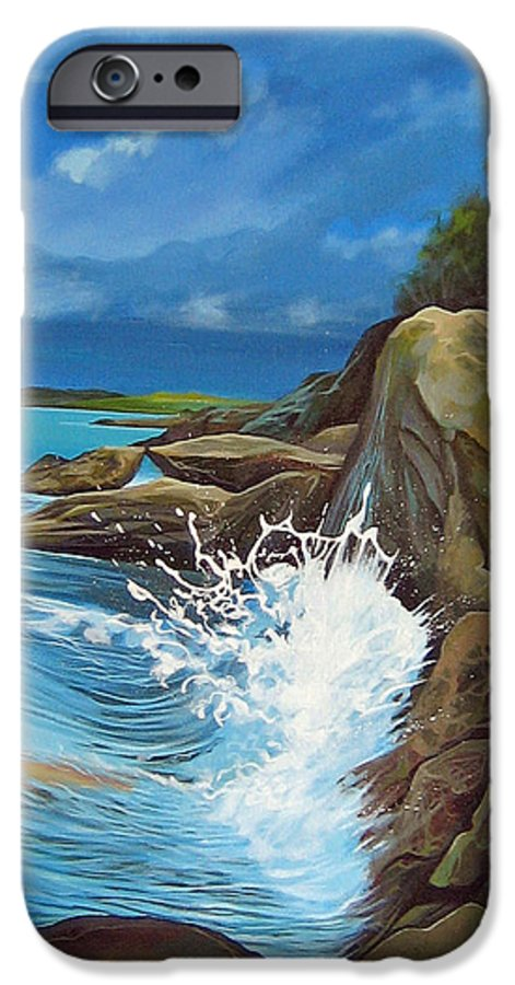 Ocean IPhone 6 Case featuring the painting Cerulean by Hunter Jay