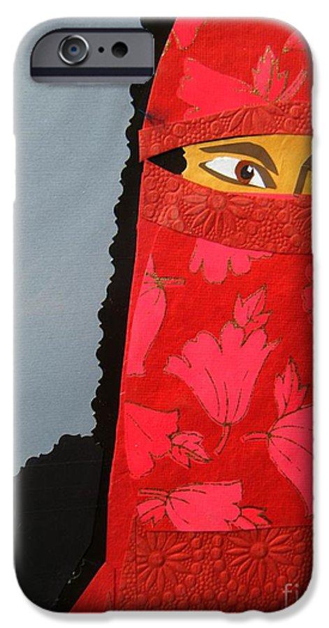 Woman IPhone 6 Case featuring the mixed media Chador by Debra Bretton Robinson
