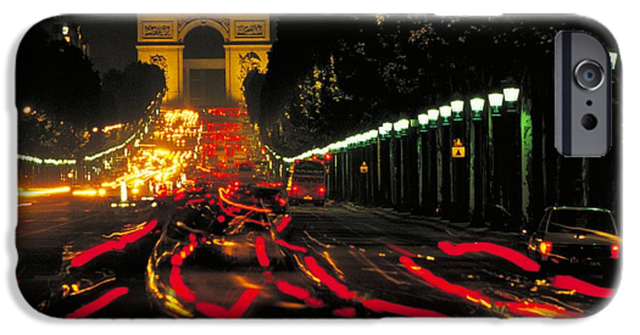 France IPhone 6 Case featuring the photograph Champs Elysee In Paris by Carl Purcell