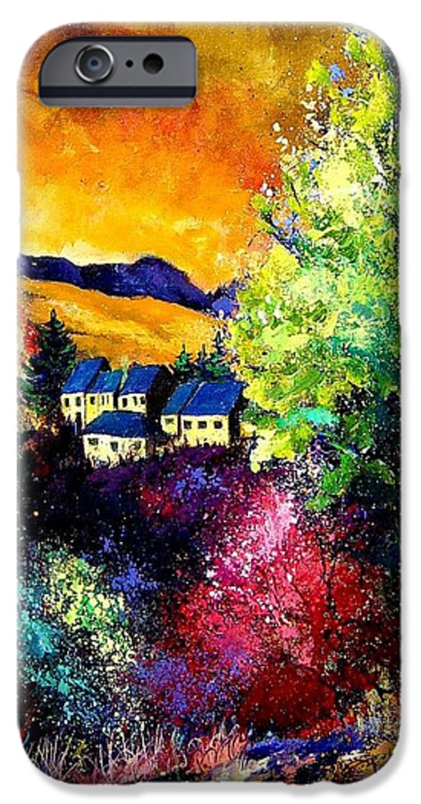 Landscape IPhone 6 Case featuring the painting Charnoy by Pol Ledent