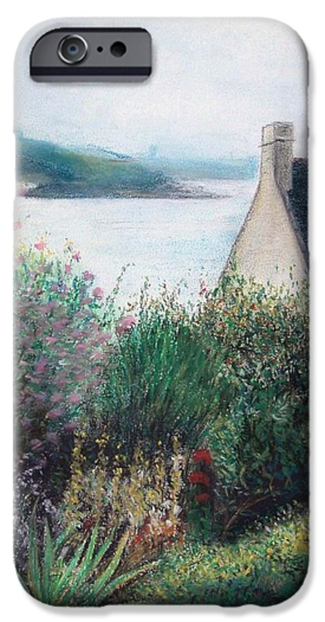 Landscape IPhone 6 Case featuring the painting Chausey by Muriel Dolemieux