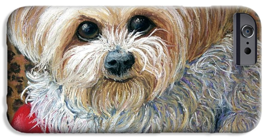 Dog IPhone 6 Case featuring the painting My Friend by Minaz Jantz