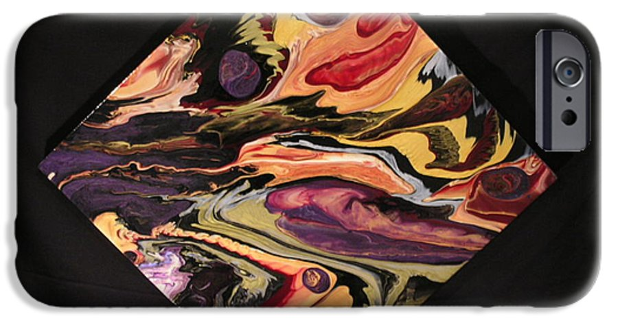 Abstract IPhone 6 Case featuring the painting Cherish The Day by Patrick Mock