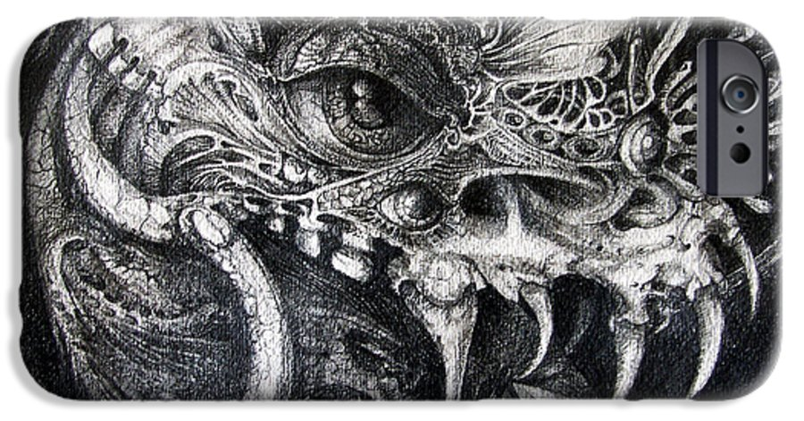IPhone 6 Case featuring the drawing Cherubim Of Beasties by Otto Rapp
