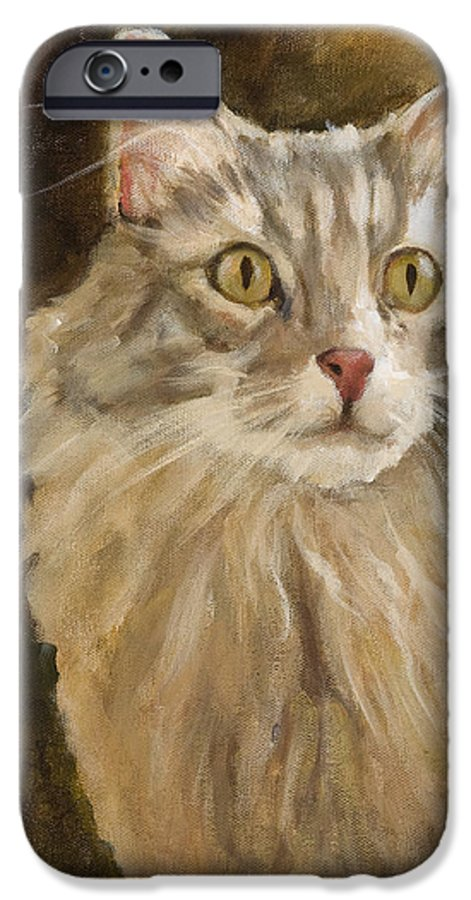 Animal IPhone 6 Case featuring the painting Chessie by Jimmie Trotter
