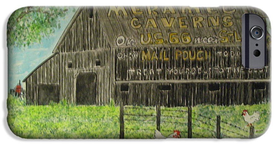 Chew Mail Pouch IPhone 6 Case featuring the painting Chew Mail Pouch Barn by Kathy Marrs Chandler