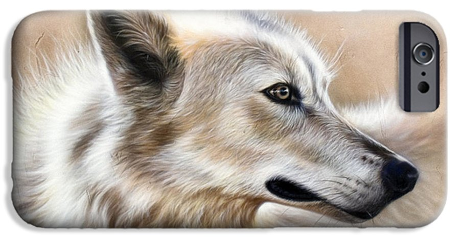 Acrylic IPhone 6 Case featuring the painting Cheyenne by Sandi Baker