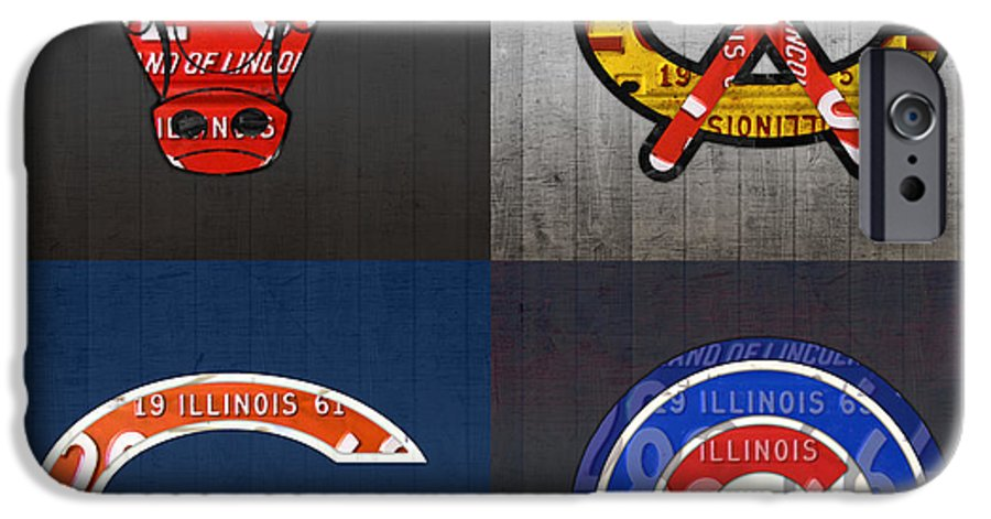 Chicago Sports Wallpaper Iphone 6: Chicago Sports Fan Recycled Vintage Illinois License Plate