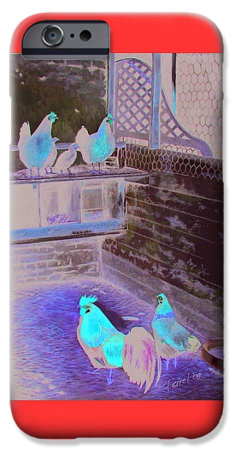 Far IPhone 6 Case featuring the painting Chicken Coop by Ferrel Cordle
