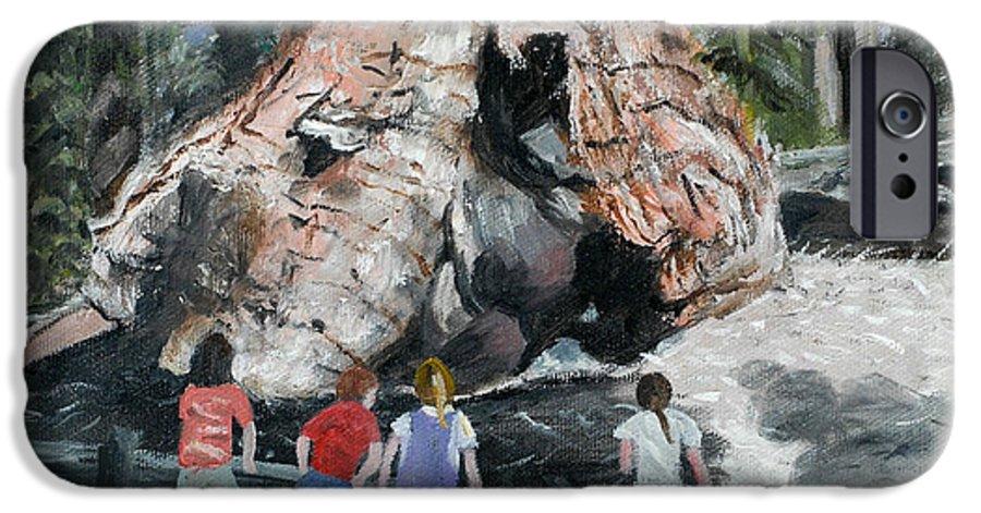 Children IPhone 6 Case featuring the painting Children At Sequoia National Park by Quwatha Valentine
