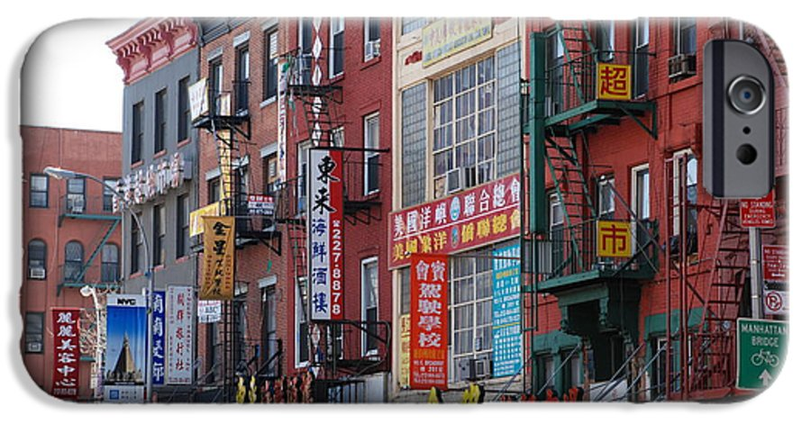 Architecture IPhone 6 Case featuring the photograph China Town Buildings by Rob Hans