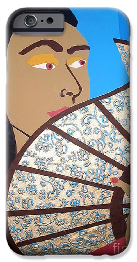 Chinese IPhone 6 Case featuring the mixed media Chinese Fan by Debra Bretton Robinson