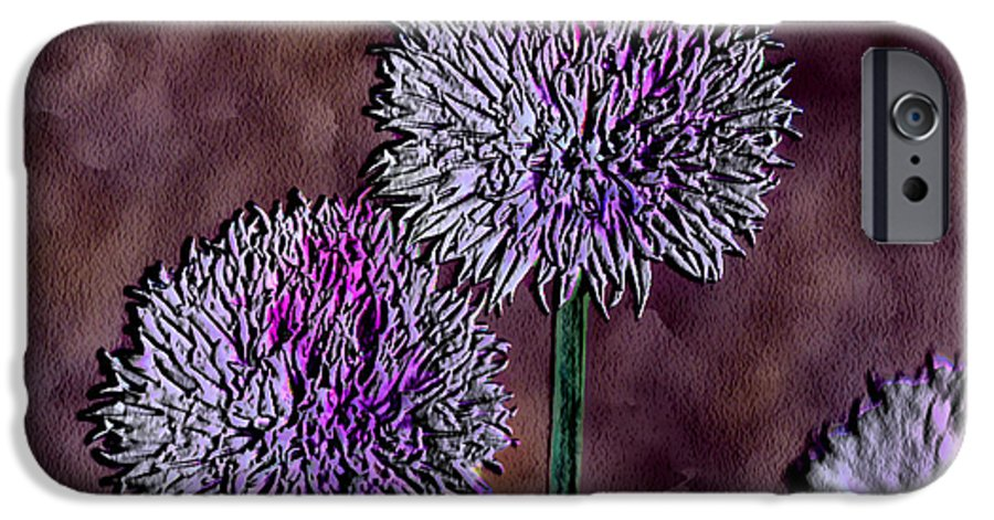 Ebsq IPhone 6 Case featuring the photograph Chives by Dee Flouton