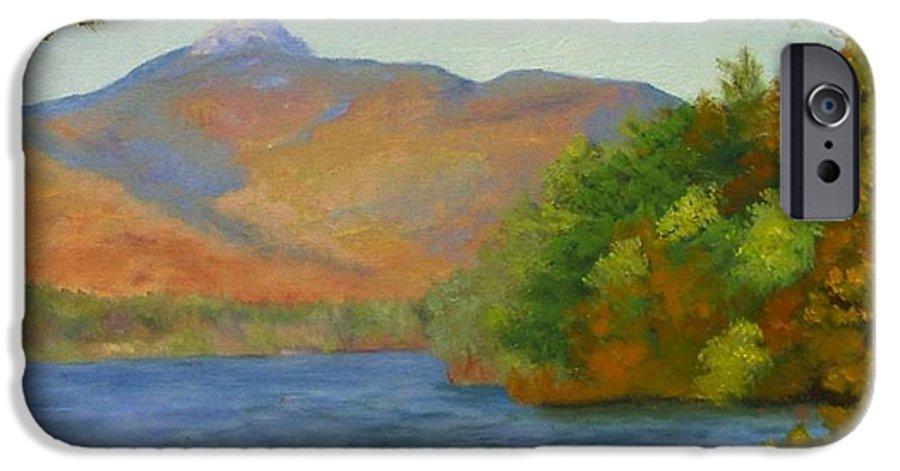 Mount Chocorua And Chocorua Lake IPhone 6 Case featuring the painting Chocorua by Sharon E Allen